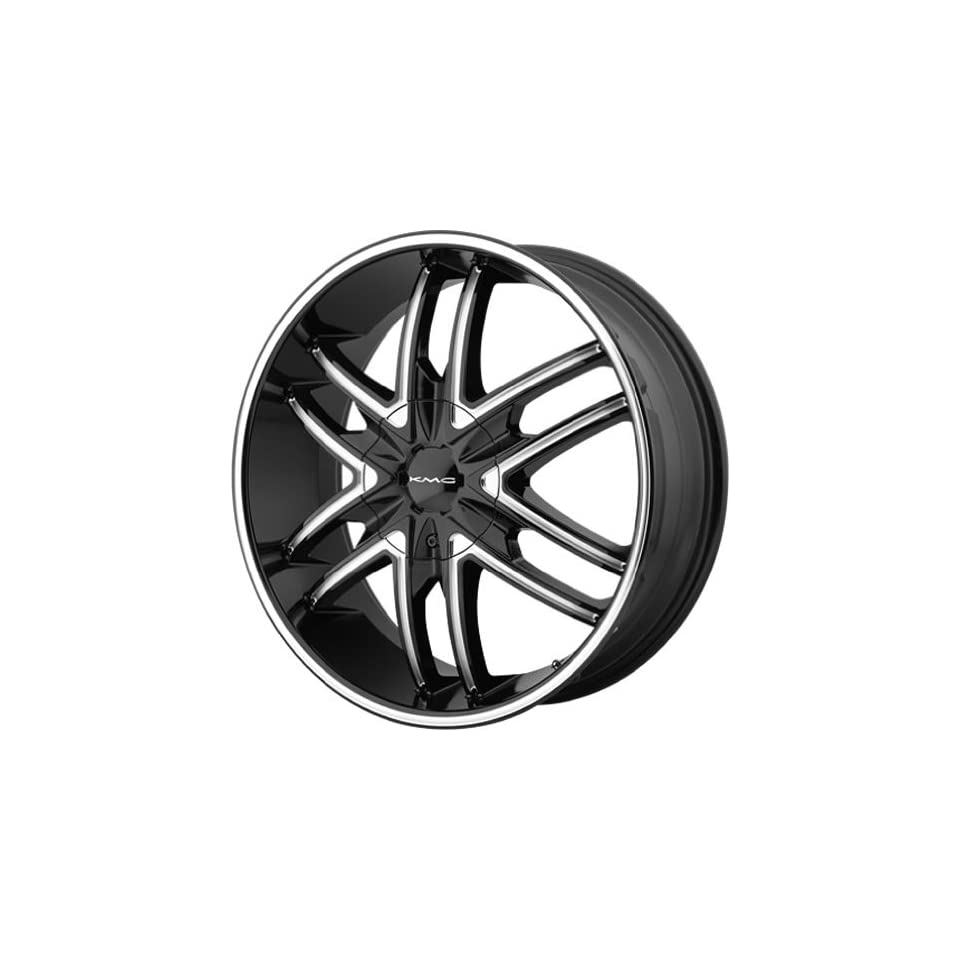 KMC KM678 22x9.5 Black Wheel / Rim 5x115 & 5x120 with a 15mm Offset and a 74.10 Hub Bore. Partnumber KM67822920315 Automotive