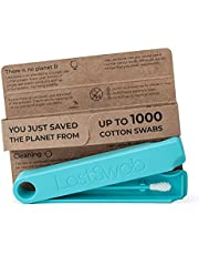 LastSwab Reusable Cotton Swabs for Ear Cleaning - Eco Friendly Q tips - Bio-Based Carrying Case - Easy to Clean - Designed in Denmark