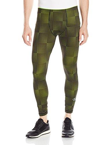 2(X)IST Men's Performance Legging, Transient Dot Print/Black, Medium