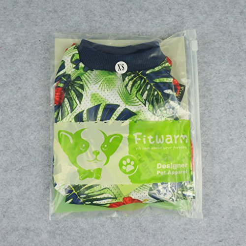 Fitwarm Palm Leaf Pet Clothes for Dog Shirts Cat T-shirts Apparel Green Large by Fitwarm (Image #6)