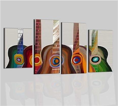 Cuadros Modernos pintados a mano aceite sobre lienzo Música Guitarra marco moderno Música – Guitarras