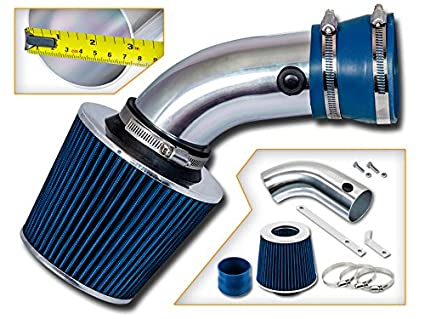 "3/"" BLUE Short Ram Air Intake Kit Filter For 96-99 318 i//is//ti Z3 1.9L L4"