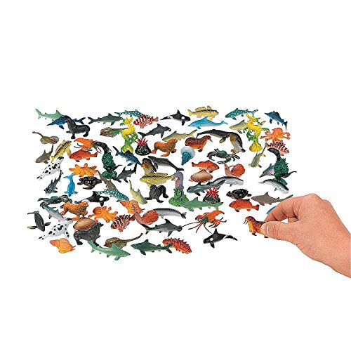 Discovery Kids Sea Creature 18 Piece Assortment Toys Plastic Set Shark Star (Animatronic Dinosaur Costume Hire)