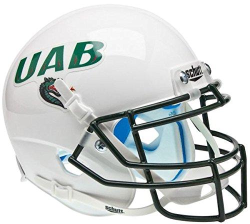 Schutt Alabama-Birmingham (UAB) Blazers Mini XP Authentic Helmet - White - NCAA Licensed - UAB Blazers Collectibles