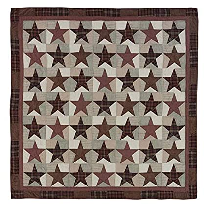 Amazon 60Piece King 60Point Star Quilt Set BurgundyBlack Gorgeous 5 Point Star Quilt Pattern