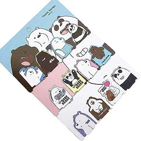 bad9089037f Wanfor Lot de 4 marque-pages magn é tiques Motif ours de chat ours