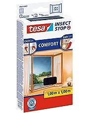 tesa Insect Stop Comfort Vliegenhor voor Ramen - Insectenhor, raamhor - Met klittenband - Snijd op maat - Zonder boren