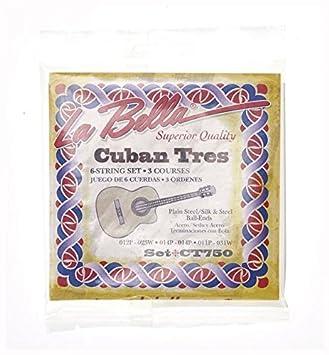 CUERDAS TRES CUBANO - La Bella (CT750) (Juego Completo) Tres Cuerdas Triples: Amazon.es: Instrumentos musicales