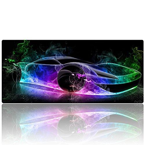 alibli–Esterilla grande Gaming Mouse Pad XXL Extended Desk Pad Mousepad largo ratones almohadillas para orejas de goma...