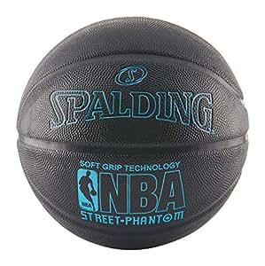 "Spalding 71022 NBA Street Phantom Official Outdoor Basketball, Neon Blue/Black, Size 7/29.5"""
