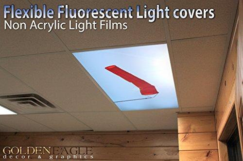 Aviation Wind Sock - 2ft x 4ft Drop Ceiling Fluorescent Decorative Ceiling Light Cover Skylight Film