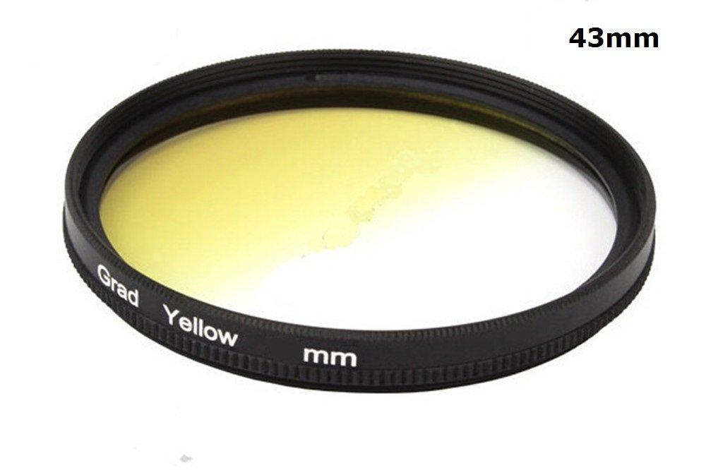 49mm 1pcs 37mm 40.5mm 43mm 46mm 49mm 52mm 55mm 58mm 62mm 67mm 72mm 77mm 82mm Graduated Yellow Gradual Color Lens Filter Protector