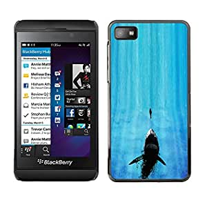 Caucho caso de Shell duro de la cubierta de accesorios de protección BY RAYDREAMMM - Blackberry Z10 - Tiburón de mandíbula