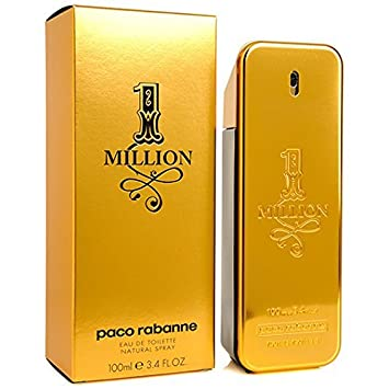 ee9db01fc9 Amazon.com   One 1 Million 3.4 oz for men by Paco Rabanne   Eau De  Toilettes   Beauty