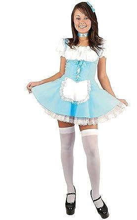 3275eebcc Amazon.com  Alice in Wonderland Costume Charades (Large 11-13)  Clothing