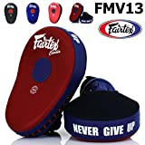Bangplee_Sport FAIRTEX FMV13 MAXIMIZED Focus Mitts Punching Training Muay Thai Boxing (Red/Blue)
