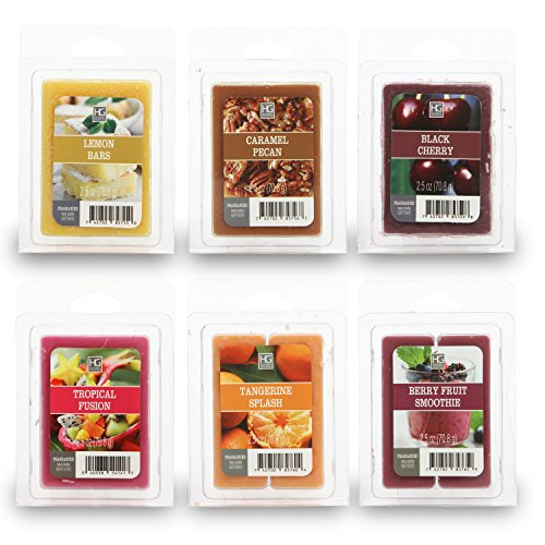 Hosley's Set of 6 Assorted Wax Cubes / Melts - 2.5 oz each.