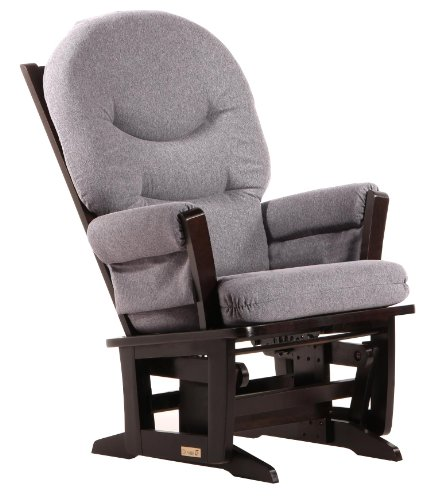 Dutailier Modern Glider in Dark Grey