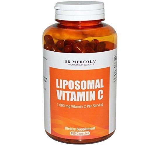 Dr. Mercola Liposomal Vitamin C 1,000mg - Higher Bioavailability Potential & Protection Against Intestinal Discomfort - 180 Capsules by Mercola