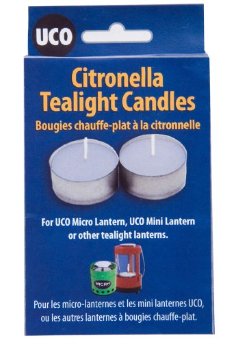 UCO Citronella Tealight Candles (Pack of 6), Outdoor Stuffs