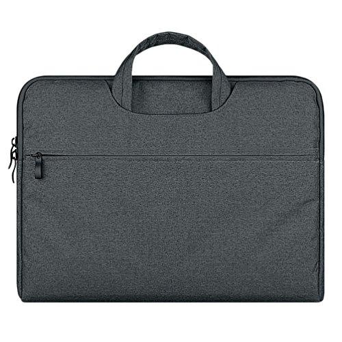 YiJee Funda Blanda para Ordenador Portátil Macbook Pro Retina 11.6 - 15.6 Pulgadas 12 Inch Oscuro Gris