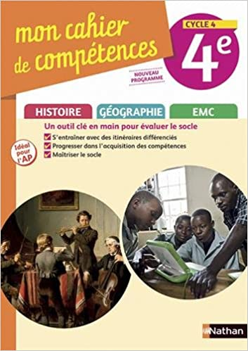 Amazon Fr Histoire Geographie Emc 4e Cycle 4 Mon Cahier De