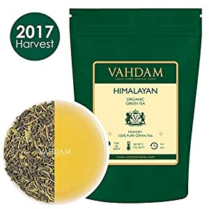 Organic Green Tea Leaves from Himalayas (50 Cups), PERFECT Christmas Gift, 100% Natural Detox Tea, Weight Loss Tea, Cleansing Tea & Slimming Tea, Powerful Anti-Oxidants, Packed in a Beautiful Box