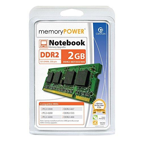 - Centon 2GB667LT 2GB PC2-5300 667MHz DDR2 SODIMM Memory