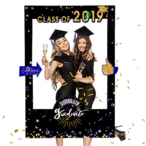 With The Stars Class of 2019 Graduation Social Media Selfie Frame Poster