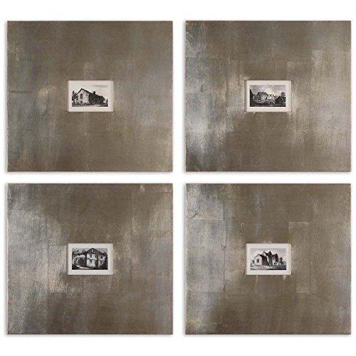Uttermost 41295 Historical Buildings Framed Art (Set of 4)