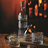Godinger Dublin European Made 3pc Stack Decanter Set
