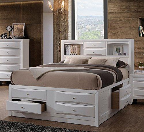 Acme Bedroom Set - Acme Furniture Ireland 21696EK Eastern King Bed with Storage, White