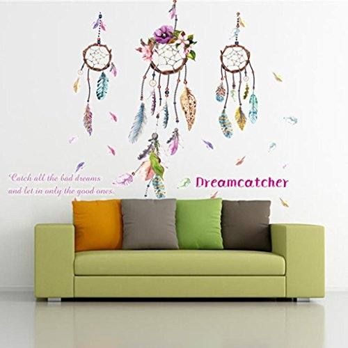 Usstore Hand-painted Feather Wall Stickers Nursery Family Home Room Decor Decoration Vinyl Art Mural - Hand Painted Nursery Murals