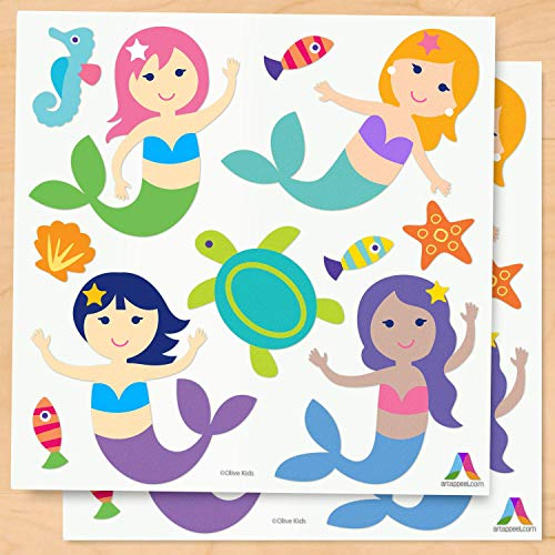 (Olive Kids Mermaids Peel and Stick Wall Decal Cut Outs)