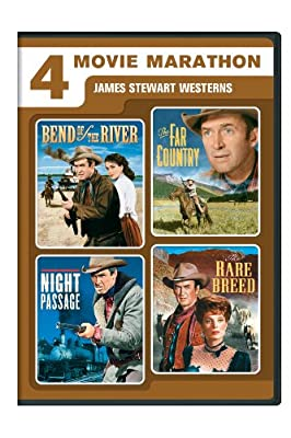 4 Movie Marathon: James Stewart Western Collection (Bend of the River / The Far Country / Night Passage / The Rare Breed)