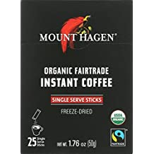 Mount Hagen Organic Single Serve Instant Coffee Stick Packs, 25 Count (Pack of 8)