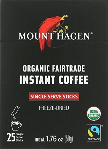 Mount Hagen Organic Single Serve Instant Coffee Stick Packs, 25 Count (Pack of 8) by Mount Hagen
