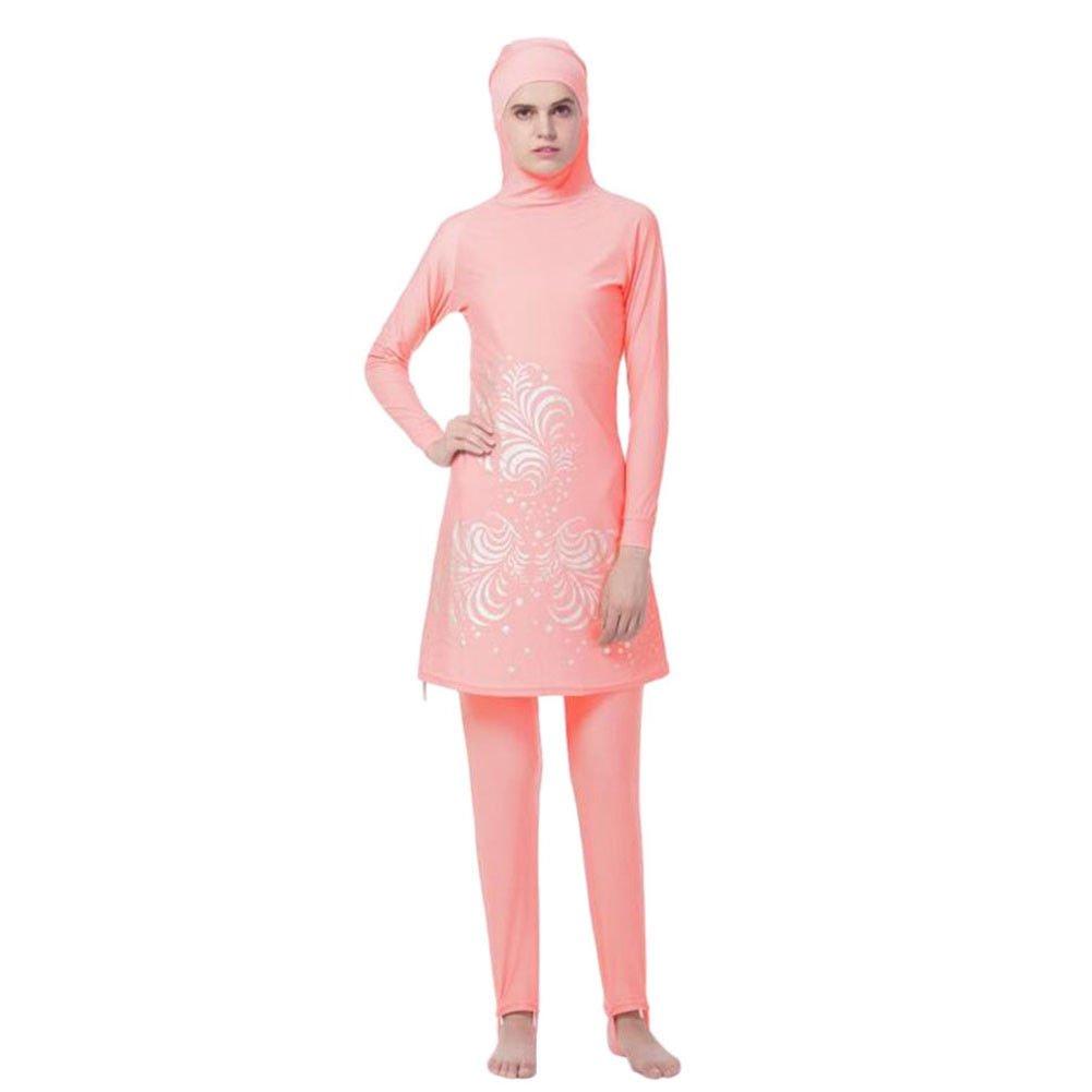 Hzjundasi musulmano 2-pezzi Copertura completa Protezione solare Hijab Swimwear islamico arabo Donne Estate Allegato Cap Burkini Swimsuit Middle East Malaysia Modesto Beachwear Costume da bagno