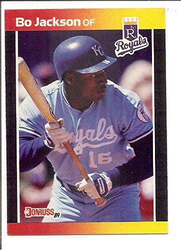 Bo Jackson Kansas City Royals 1989 Donruss Baseball Card