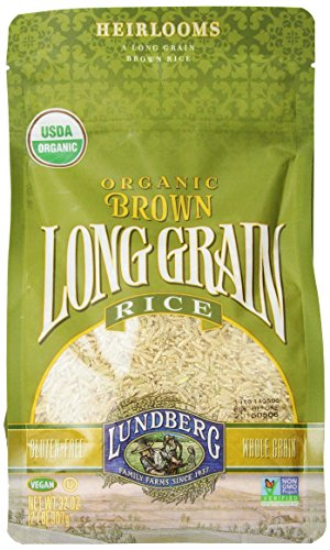- Lundberg Brown Long Grain Rice, 32 Ounce (Pack of 6), Organic