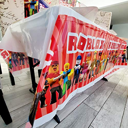 7FT ROBLOX TABLE COVER TABLEWARE PARTY FOR BIRTHDAY THEME