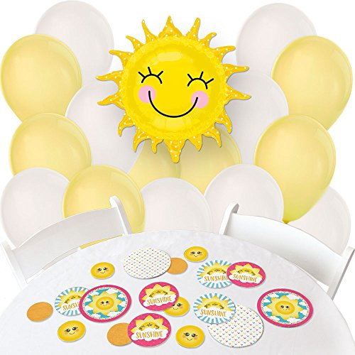 You are My Sunshine - Confetti and Balloon Baby Shower or Birthday Party Decorations - Combo Kit ()