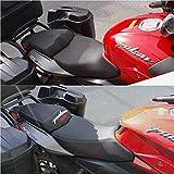 Funda blanda para asiento de motocicleta, color negro, compatible con Bajajaj Pulsar NS 200