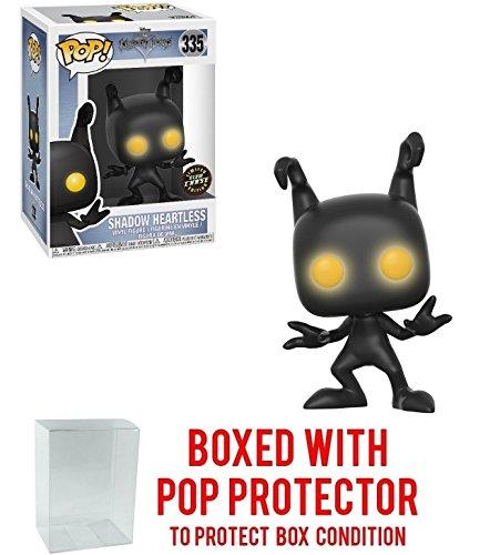 Funko Pop! Disney: Kingdom Hearts - Shadow Heartless CHASE Version Glow Eyes Vinyl Figure (Bundled with Pop BOX PROTECTOR CASE)