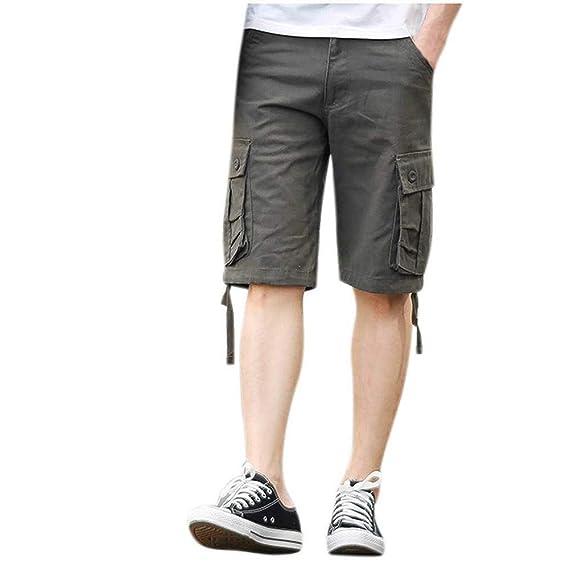 Herren Shorts Gym Laufhose mit Freizeit Kurzhose Badeshorts Sports Tasche P//D