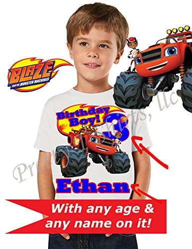 Blaze Birthday Shirt, Family Birthday Shirts, Blaze and The Monster Machines Shirt, Blaze Birthday Party, Add ANY name and Age, Blaze Shirt, Car Shirts, Blaze, VISIT OUR SHOP!! (Machine Any)
