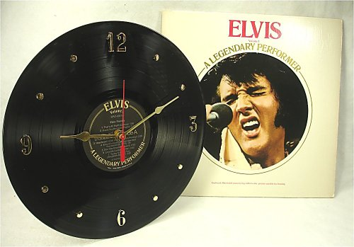 IT'S OUR EARTH ELVIS PRESLEY Recycled Vinyl Record Clock -
