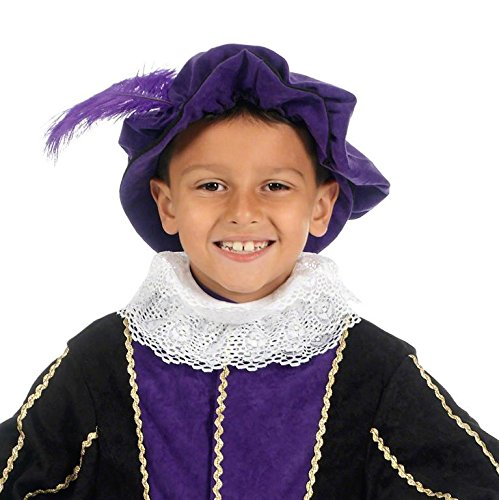 Charlie Crow White Elizabethan Tudor Neck Ruff for Kids one Size fits All ()