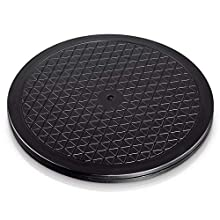 Hama - Plataforma giratoria universal redonda, 40 cm, carga de 100 kg (ideal para TV, altavoces, monitores y utensilios de cocina), negra