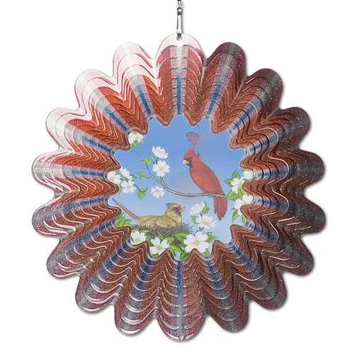 - Iron Stop DA132-10 Animated Cardinal Pair Wind Spinner